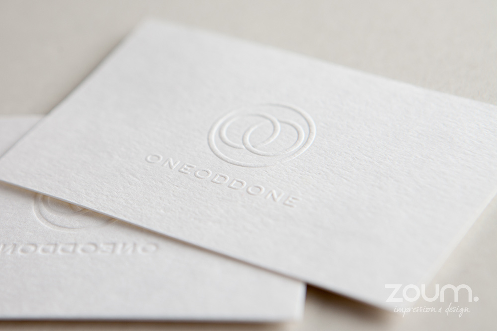 Embossed Business cards - ZOUM embossing