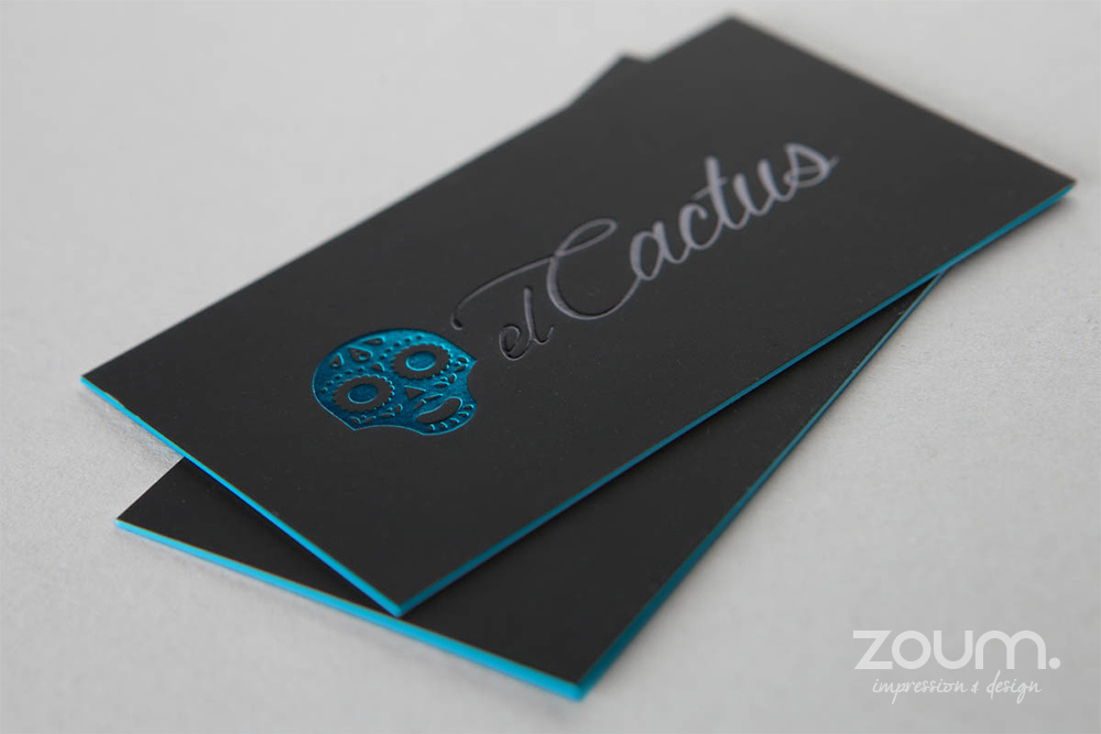 Metallic hot foil stamping by zoum for Italian interior design company names