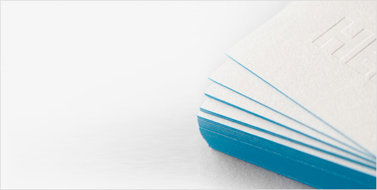 Painted edges business cards